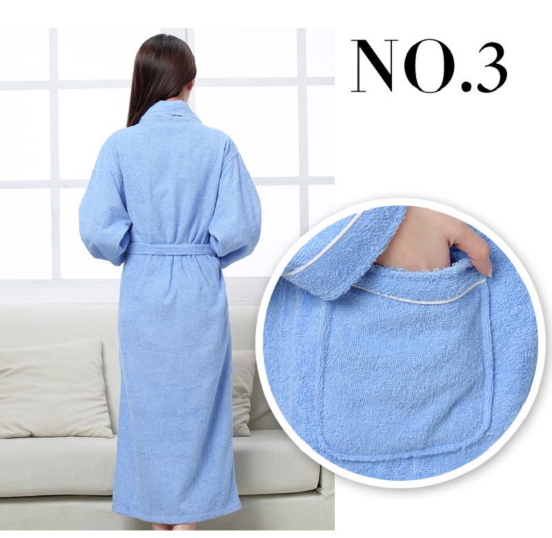 Detail Feedback Questions about Women Men Cotton Terry BathRobes all ... 051b15c3a