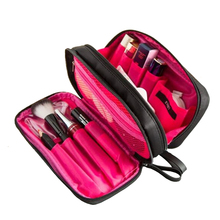 Double Layer Cosmetic Bag Travel Organizer Waterproof Makeup Cases Pouch Beauty Brushes Lipstick Toiletry Accessories Supplies