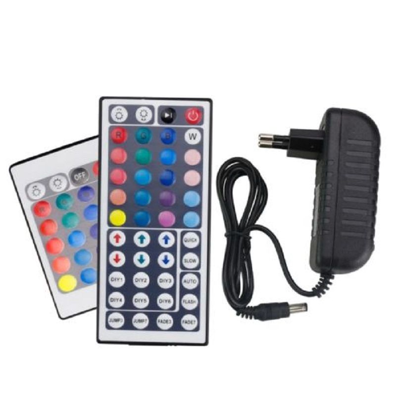 2A 3A Power Adapter Remote Controller IR 24Key 44Key For SMD 5050 3528 Led Strip
