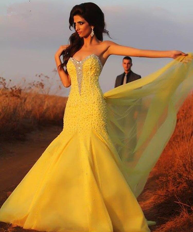 Gros jaune robes de mariée en Ligne à des Grossistes jaune robes de ...