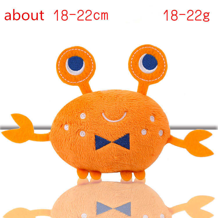 Fleece Squeak Toy for Small Dogs Cute Crayfish Crab Type Pet Dogs Sounding Toys Cat Fish Puppy Bone Squeaky Rope Toys 5