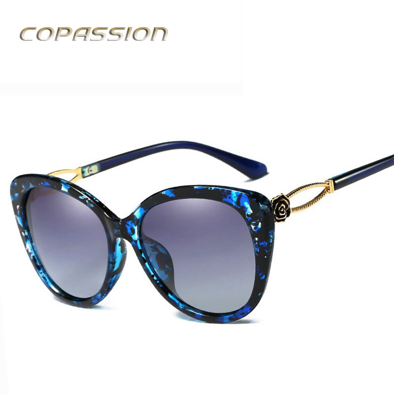 2017 womens sunglasses polarized fishing glasses brand designer Big Frame Roses sun glasses uv400 Goggles Eyewear oculos de sol