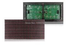 P10 Открытый Красный Светодиодный Дисплей Module320 * 160 мм, полный Силиконовые P10 Светодиодный Модуль Один Цвет Красный Для Прокрутки Сообщения Светодиодная Вывеска