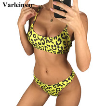 NEW Sexy 2019 Leopard Bikini Women Swimwear Female Swimsuit Two-pieces Bikini set Brazilian Bather Bathing Suit Swim Wear V871Y