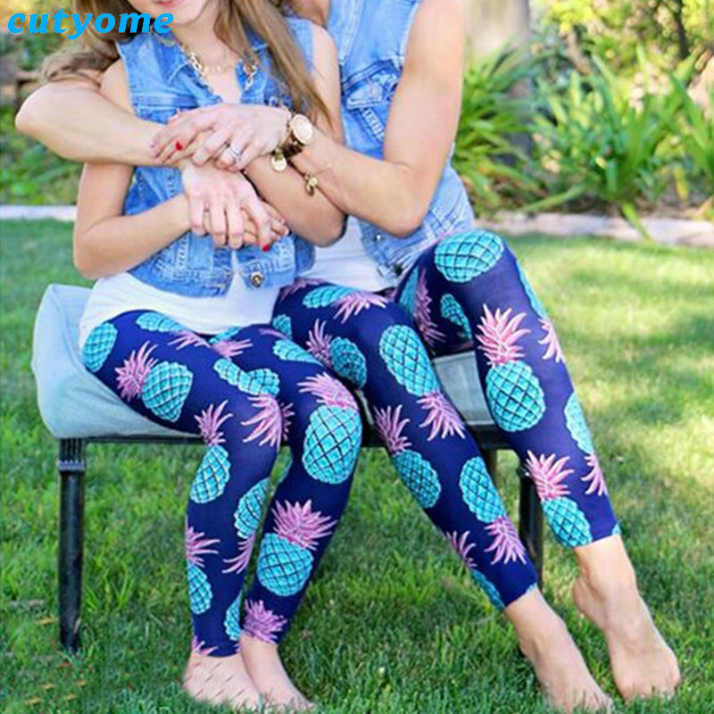 Mom And Daughter Matching Outfits Pants Family Look Mother Daughter Sport Yoga Trousers Mommy And Me Leggings Matching Clothes (9)