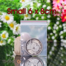 6x8cm Ziplock Plastic Bags Jewelry Small Bag Candy Food Packaging Zip Lock Clear Compressed  Dustproof Reclosable