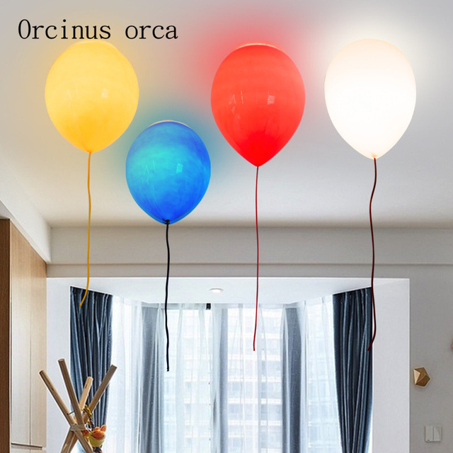 Simple children's room lamp, balloon ceiling lamp, bedroom, boy and girl, study, creative paradise, personality lighting