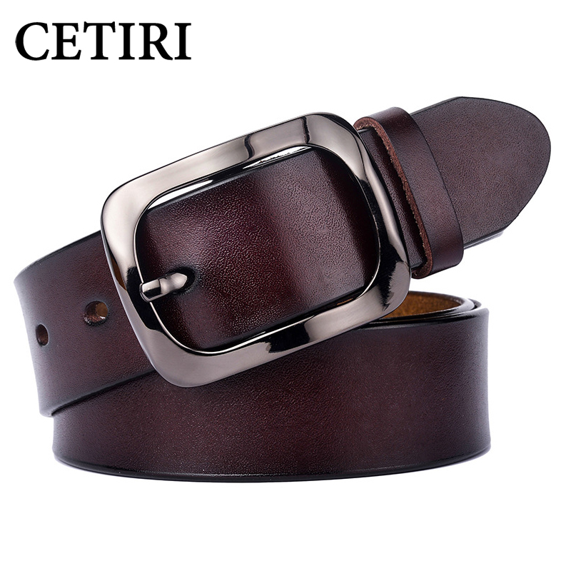CETIRI Fashion Vintage Genuine Leather Belt Woman Luxury Designer Wide Belts Women Second Layer Cow Skin Strap For Jeans Female