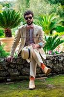 2017 Latest Coat Pant Designs Tan Beige Italian Formal Men Suit Slim Fit Summer Simple Custom Blazer Men 2 Piece Masculino Q82