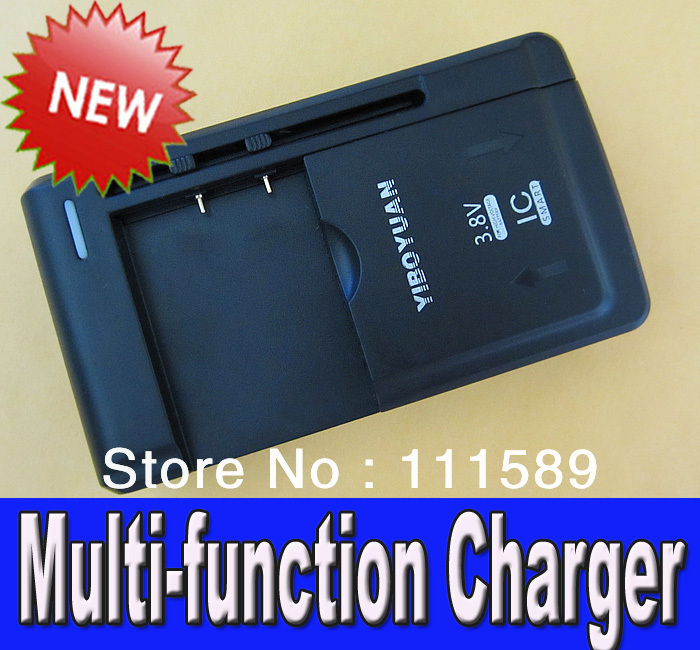 100pcs/lot YIBO YUAN USB/AC Multi-function Charger For Samsung S S2 S3 i9500 i9200 N7100C All Mobile Phone battery wholesale