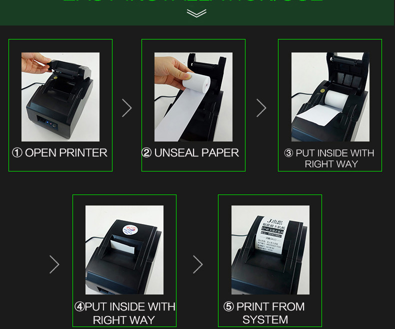 Cash Register Paper-Roll Thermal-Paper No-Core 2 57x30-Mm Bpa-Free Long-Mobile Bluetooth