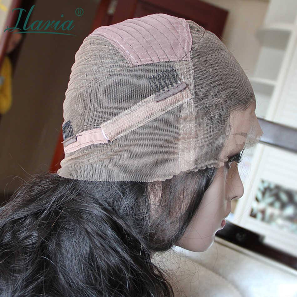 Brasilianische Haar 360 Spitze Frontal Perücke Mit Baby Haar Körper Welle Vor Gezupft Spitze Vorne Menschenhaar Perücken Für Schwarz frauen
