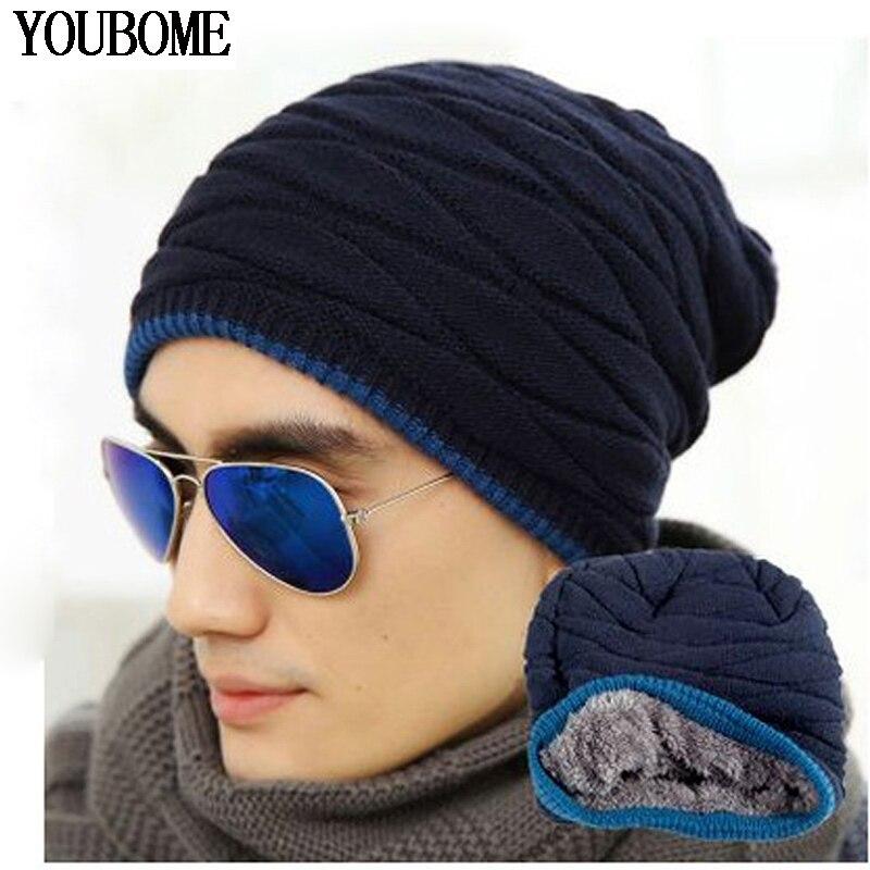 Winter Beanies Women's Winter Hats For Men Women Knitted Hat Caps Gorros Fleece Warm Sports Ski Wool Bonnet Skullies Touca Hats