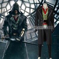 Assassin's Creed синдикат Jacob Косплэй костюм для взрослых Assassins Creed костюм Карнавальная одежда ПОЛНЫЙ КОМПЛЕКТ Хэллоуин индивидуальный заказ