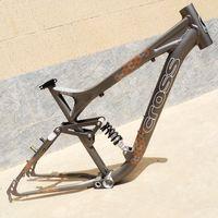 26 inch 34mm half aluminum suspension rear shock down hill bike frame