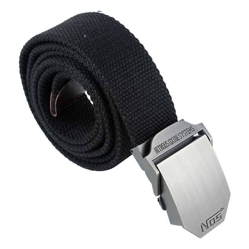 Men's Extra Long Army Zip Canvas Belt with Slider Buckle
