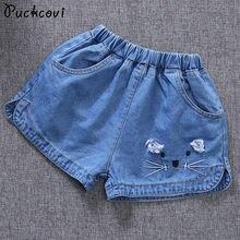 Shorts Jeans Meninas calças quentes calças Jeans para Crianças menina 2018  verão Shorts Jeans Bordado calças roupa Dos Miúdos Mo. f92d32c2f0189