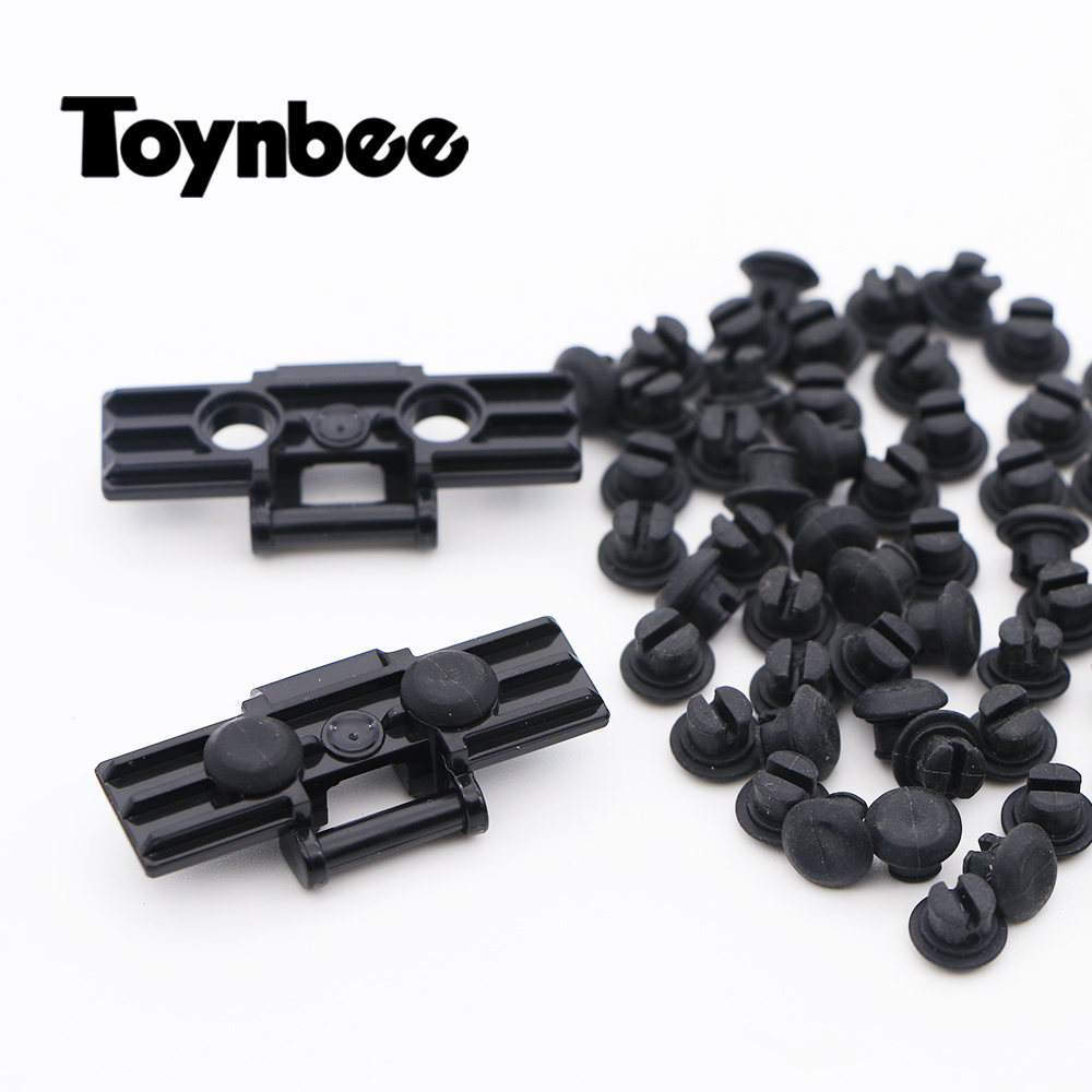<font><b>Rubber</b></font> Stopper Building Blocks Thread Attachment Grip Tank Caterpillar Track Brick Kids Toy Gift Compatible Technic Parts 24375 image