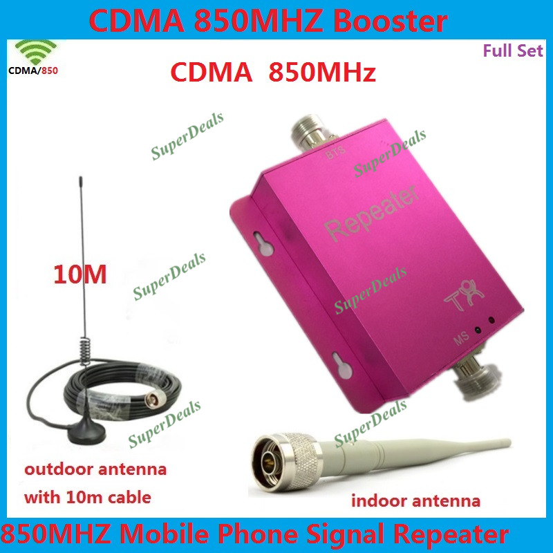 GSM Cell Phone Signal Repeater 850MHz CDMA Mobile Phone Signal Booster 2g 4g Cellular Signal Booster amplifiers + AntennaGSM Cell Phone Signal Repeater 850MHz CDMA Mobile Phone Signal Booster 2g 4g Cellular Signal Booster amplifiers + Antenna