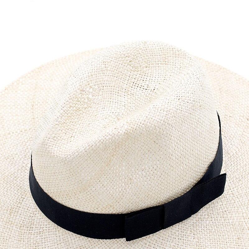 Muchique de Sinamay Sombreros de Panamá para las mujeres verano sombreros de Sun sombrero de playa de calidad superior sombreros de paja para los hombres - 4