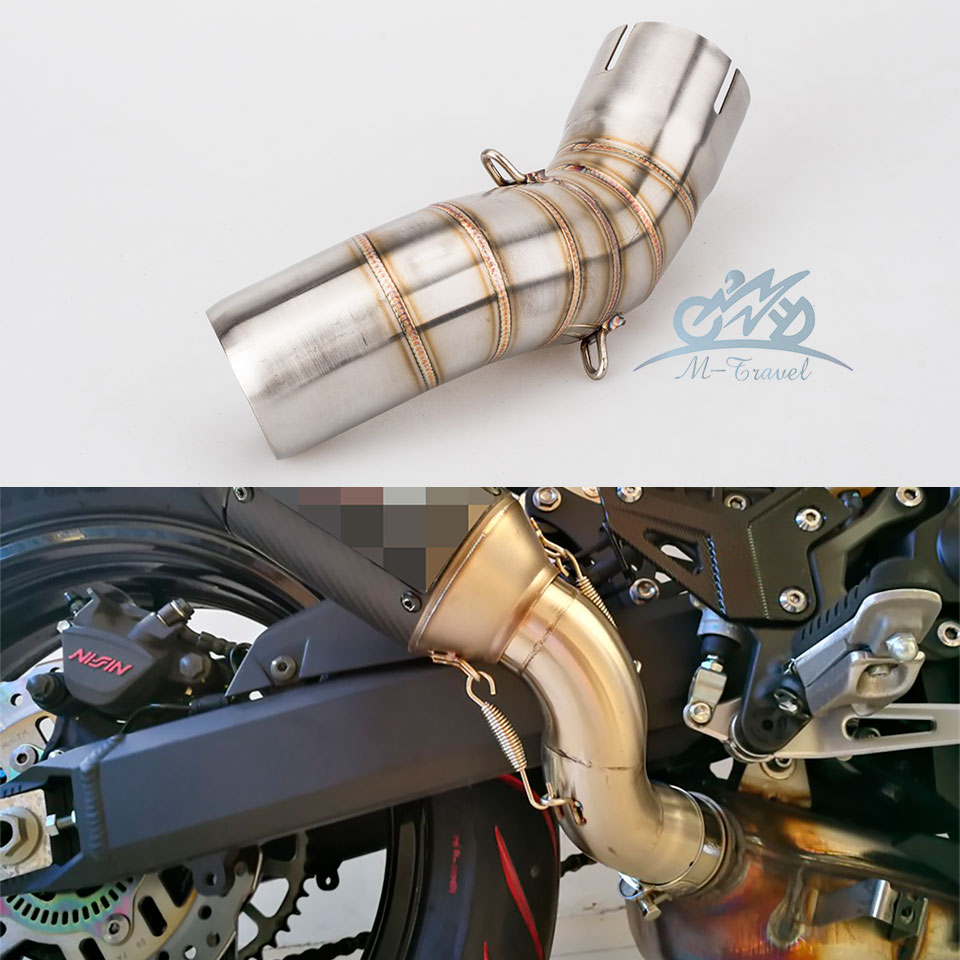 Motorcycle Exhaust Middle Pipe z900 Connection Link Pipe fit for 51mm Muffler Slip On For Z900 exhaust z900 mid pipe