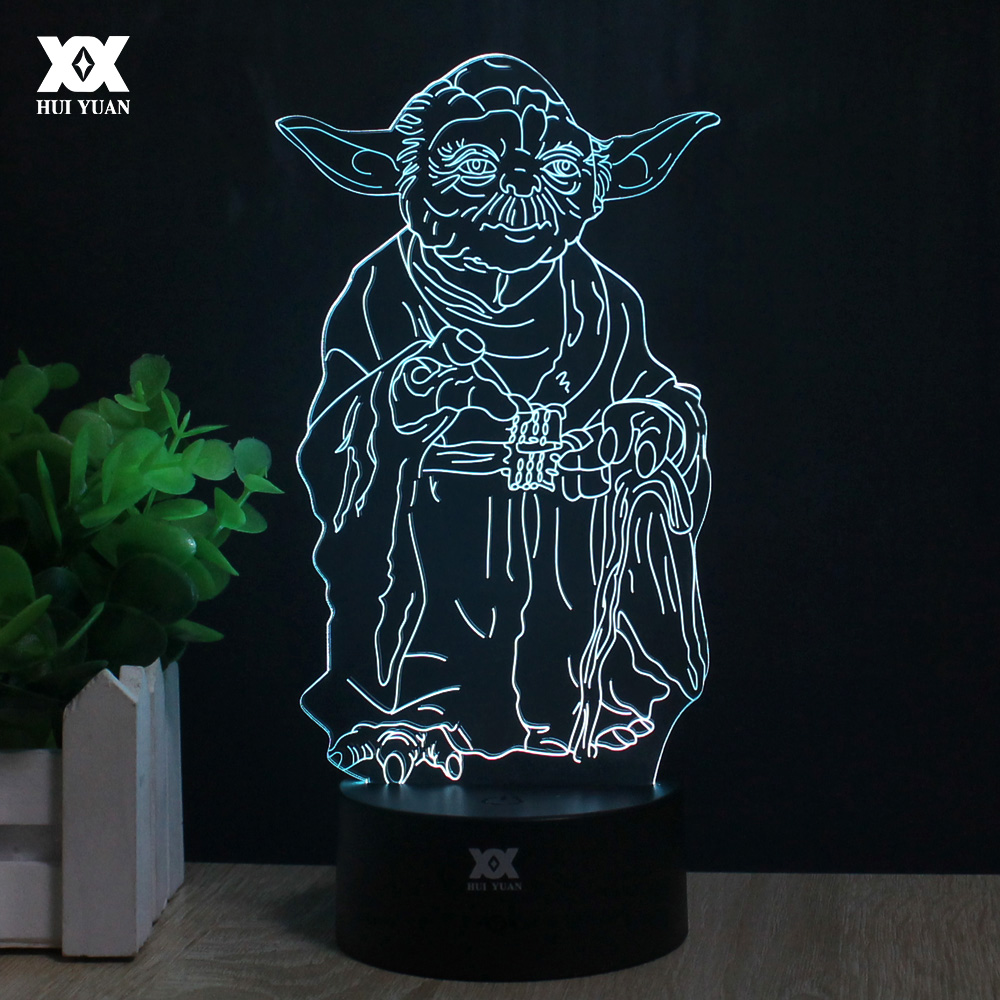 Master Yoda 3D Lamp Remote Control Night Light LED Decorative Table - Night Lights - Photo 1