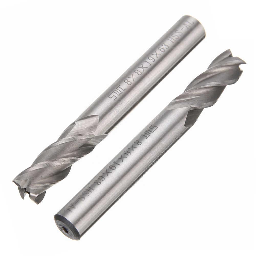 """1 יחידות באיכות גבוהה קוטר 12 מ""""מ HSS קרביד סוף מיל CNC כלי 4 להבים חליל מיל קאטר ישר שוק סולידי Carbidet מקדח"""