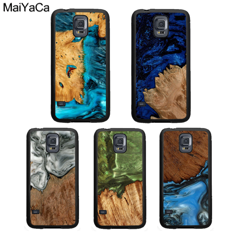 MaiYaCa Hybrid <font><b>Wood</b></font> Resin TPU <font><b>Case</b></font> For <font><b>Samsung</b></font> <font><b>Galaxy</b></font> A50 A70 A10 A20 A30 <font><b>A40</b></font> Note 10 9 8 S7 S8 S9 S10 Plus S10e image
