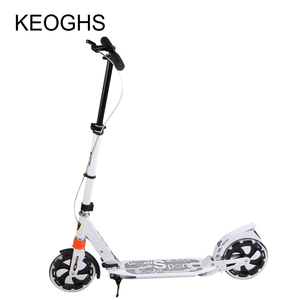 Image 4 - adult children aluminium scooter foldable PU 2wheels bodybuilding shock absorption urban campus transportation