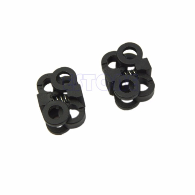 Black Shoelace Buckle Stopper Rope Clamp Cord Lock Cross Design New Fashion High Quality 1Pair Small Plastic Shoe Decoration