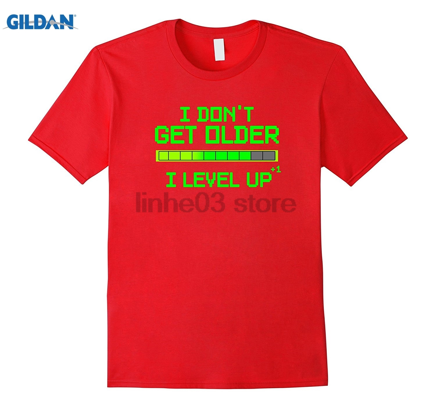 GILDAN I Dont Get Older Level Up Funny Video Game Birthday T Shirt summer dress T-shirt