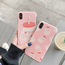 Mayitr Phone Back Capa Coque For iphone 8 7 6 6s plus Strawberry Drinks Soft Case Cover iPhone XS Max XR X Plus