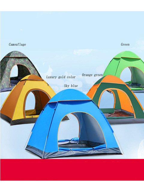 Tents Outdoor Camping Portable Waterproof Hiking Tent Anti UV 2/4Person Folding Pop Up Automatic Open Sun Shade Ultralight Tent