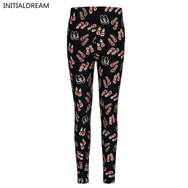High Quality Sexy Leggings Women Floral Print Leggings Stretch Pants Winter Fun Cotton Soft  Leggings Printed