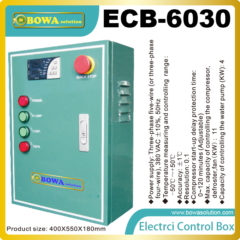 Electrical Control box has function of refrigeration, defrost, water pump and fan for water cooled low temperature freezer система подогрева труб nexans defrost water kit 4m