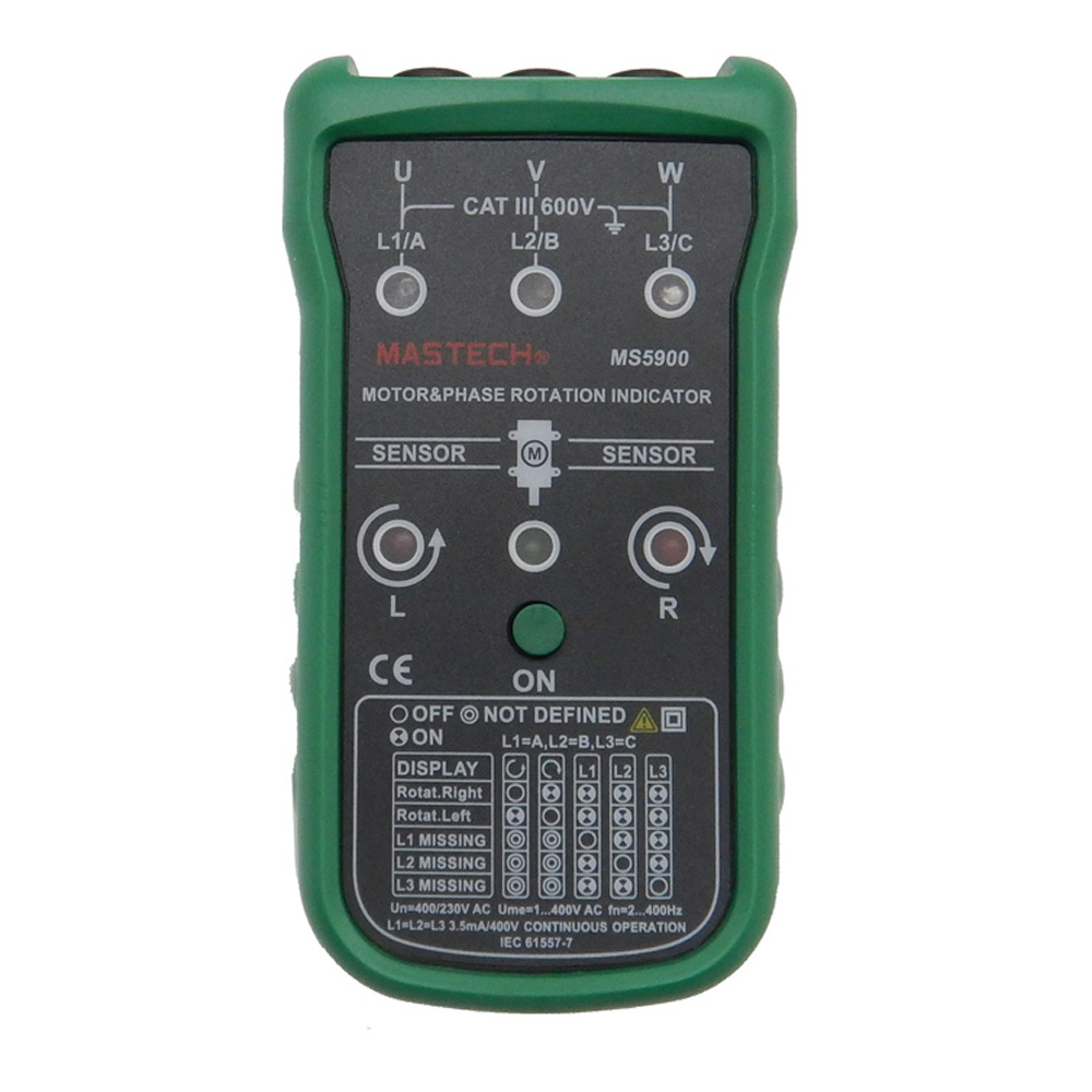 Mastech MS5900 Three motor and Phase sequence indicator meter