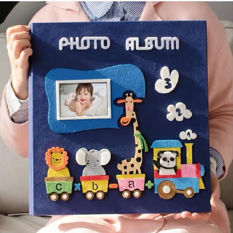 Nova 6 Polegada 600 Bolso Álbum de fotos Página Crianças Tipo de Inserção Álbum de fotos Da Família Criativa Dos Desenhos Animados Do Bebê Crescer Álbum de scrapbook Casamento