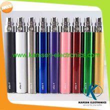 Promotion colorful ego battery 650mah 900mah 1100mah electronic cigarette battery e cigarette battery ego t  e cigarette battery