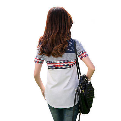 Loose Cotton Tops Short Sleeve Tee Shirt