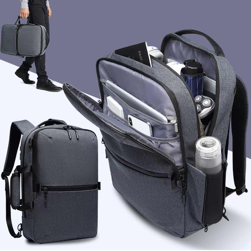 2019 Large Capacity 15 6 inch Laptop Men Business Luggage Shoulder Bags Waterproof Multi layer Space