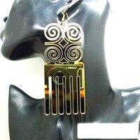 Laser Cut Big Mirrow Acrylic Comb Earring