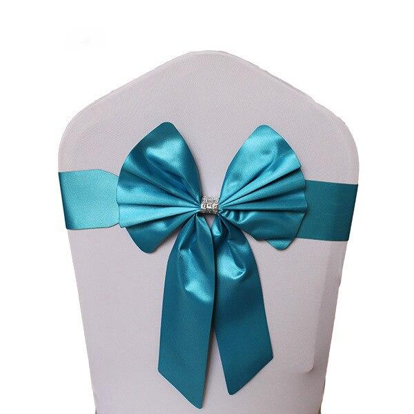 Noeud de Chaise Mariage Sashes узел бант на свадебный стул галстук украшение Stuhl Schleifen Hochzeit ssarfa Fajin Stoel Sjerp - Цвет: 001