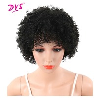 Deyngs Pixie Cut Short Afro Kinky Curly Synthetic Wigs With Bnags Natural Hair Wigs For Black