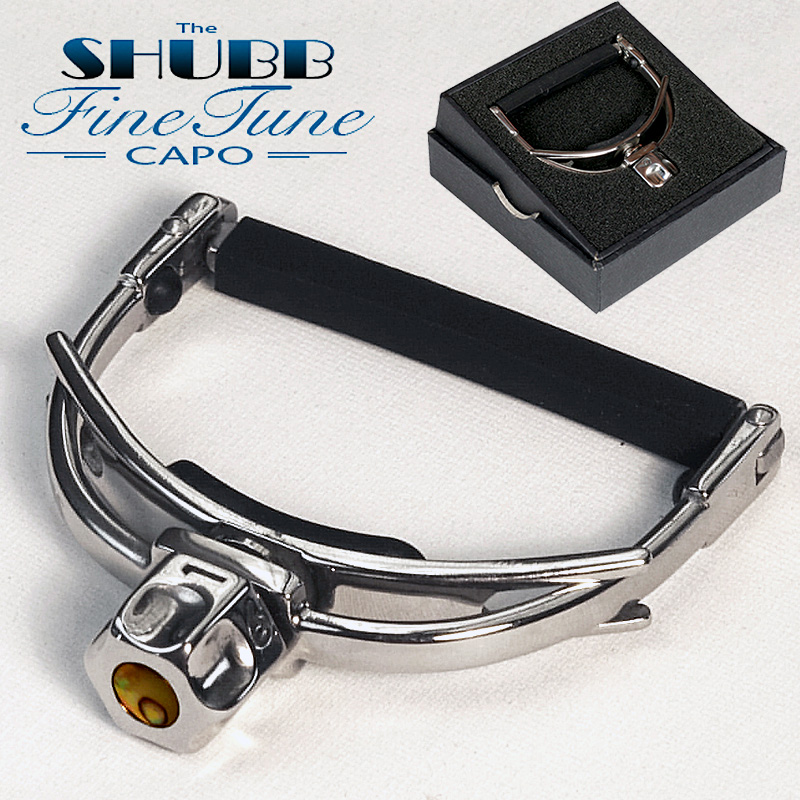 SHUBB Fine Tune Capo F1 F3 F5 High End Guitar Capo for Steel Guitar, Wide Neck Guitar or Banjo guitar rolling capo greg bennett design glider capo slides up