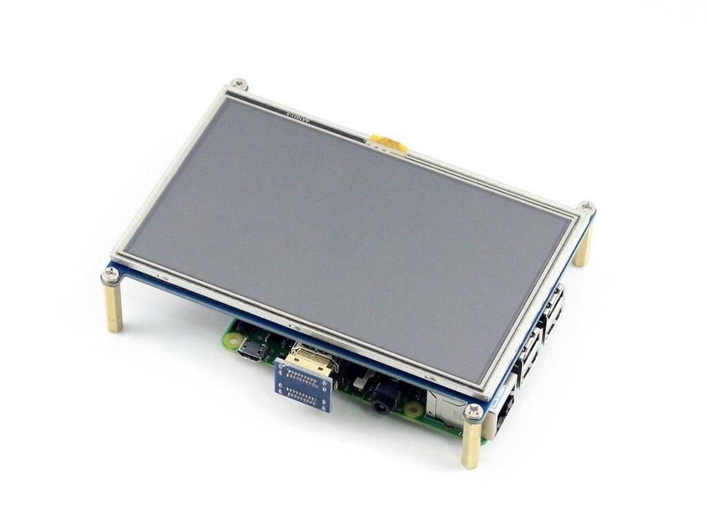 Raspberry Pi Lcd-display-modul 5 zoll 800*480 Tft-resistiven Touchscreen Panel HMI Schnittstelle für Jedes Modell von Rapsberry-pi 3