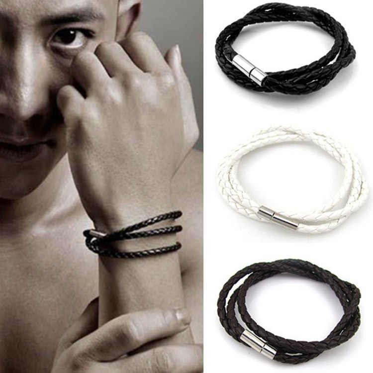 Wholesale New Bracelet Fashion And Personality Style Bracelet Men Punk Charm Bracelet Christmas Gift
