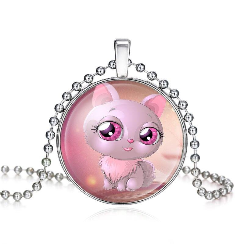 Serie Del Gato Color Rosa Dibujos Animados Gato Cuadro Big Eyes El
