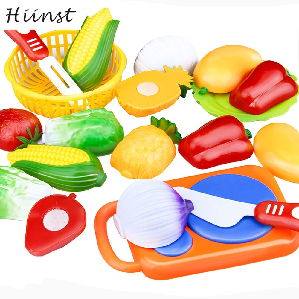 HIINST Funny 12PC Cutting Fruit Vegetable Pretend Play Children Kid Educational Toy cut the fun at home drop ship P30 Ag15 gift