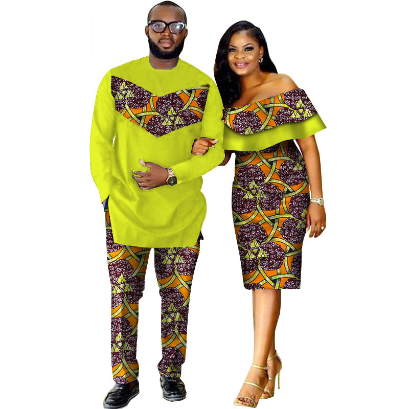 African-Dashiki-Print-Couple-Clothing-for-Lovers-Two-Piece-Set-Men-s-Suit-Plus-Women-s(13)