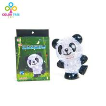 53pcs Kids Toys 3D Panda Crystal Puzzle Three-dimensional DIY Jigsaw Puzzle Children's Educational Toys Birthday Gift